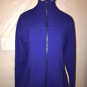 lululemon womens define blue jacket thumbholes